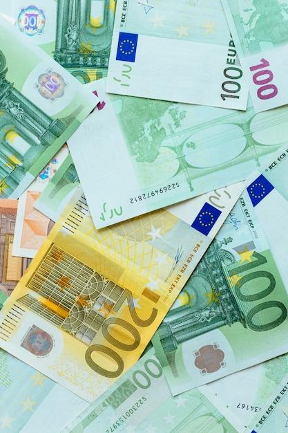 Fundo de dinheiro em euros Foto gratuita