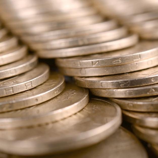 Fundo de dinheiro ucraniano de sucesso financeiro para conceitos de vida rica Foto Premium