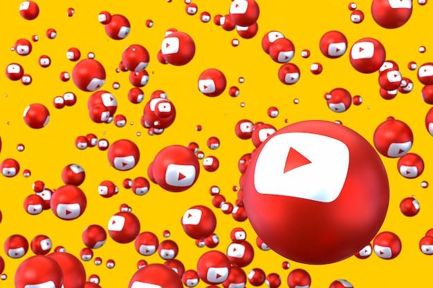Fundo de emoji do logotipo do youtube Foto Premium