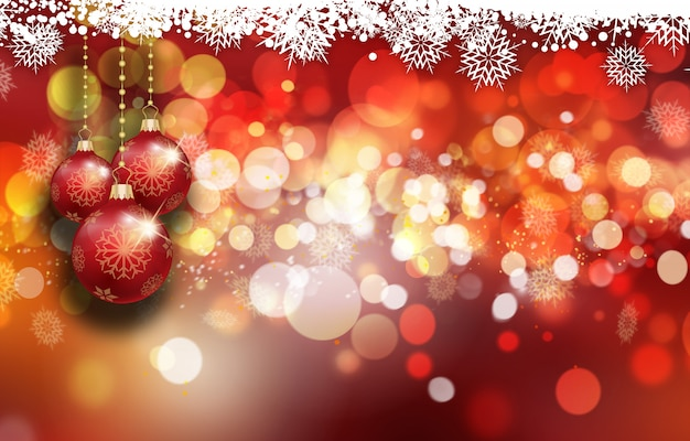 Fundo de enfeites de natal Foto gratuita