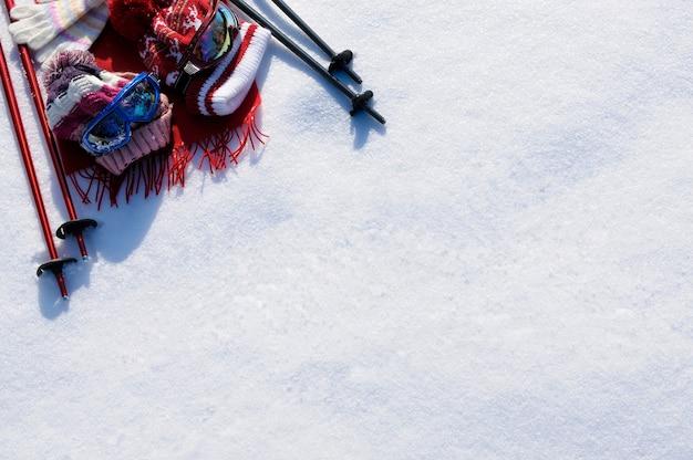 Fundo de esqui de neve Foto Premium