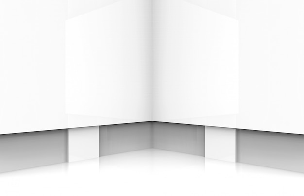 Fundo de estágio moderno da placa branca. Foto Premium