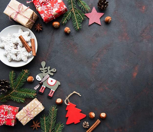 Fundo de férias de natal Foto Premium