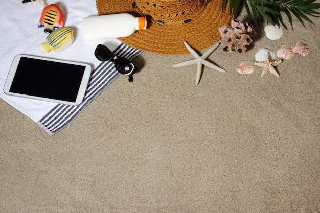 Fundo de férias de praia Foto Premium