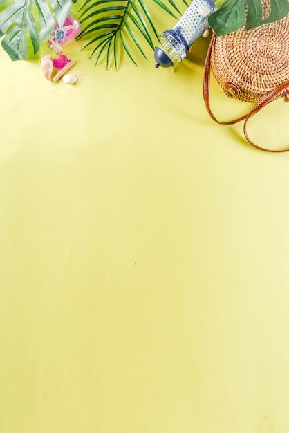 Fundo de férias de verão Foto Premium