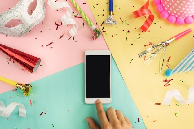 Fundo de festa de celebração colorido com espaço de cópia Foto Premium