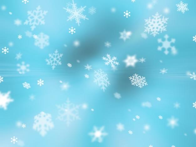 Fundo de flocos de neve Foto gratuita