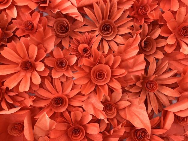 Fundo de flor de papel usado para decoração de parede Foto Premium