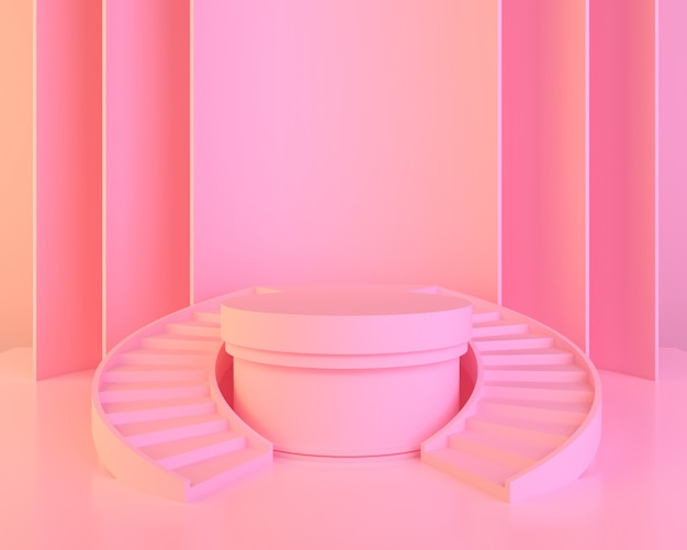 Fundo de forma geométrica abstrata cor-de-rosa Foto Premium