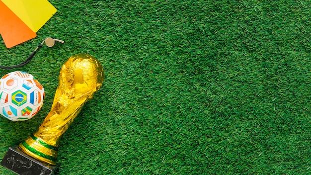 Fundo de futebol com copyspace à direita Foto gratuita