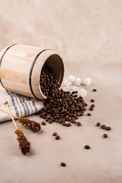Fundo de grãos de café Foto gratuita