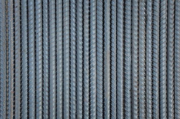 Fundo de hastes de aço e texturizado Foto Premium