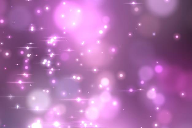 Fundo de incandescência violeta abstrato do bokeh. Foto Premium