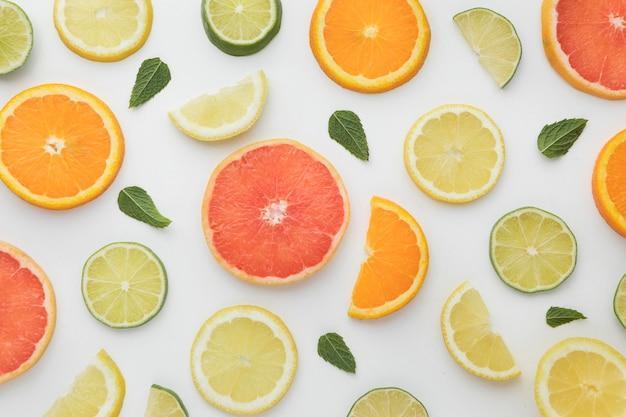 Fundo de laranjas e limões Foto Premium