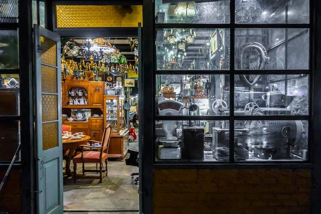 Fundo de loja vintage texturizado Foto Premium