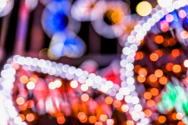 Fundo de luzes brilhantes lâmpadas brilho Foto gratuita