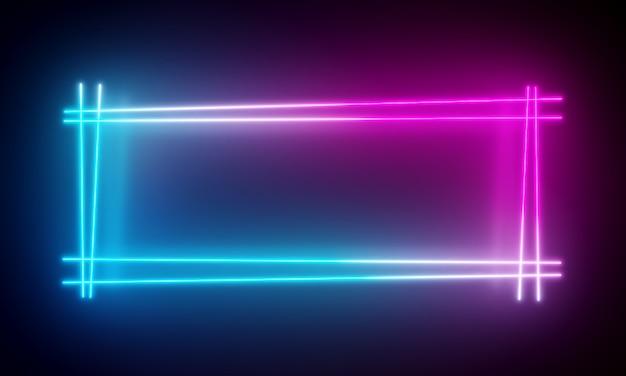 Fundo de luzes de néon. Foto Premium