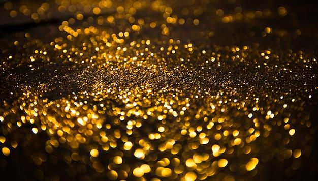 Fundo de luzes vintage de glitter defocused Foto Premium