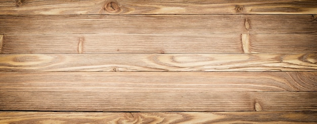 Fundo de madeira do panorama. close-up de textura de madeira clara. mesa de prancha ou chão Foto Premium