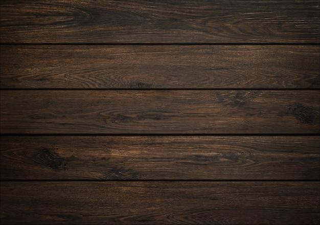 Fundo de madeira escura. textura de tábua de madeira. estrutura da prancha natural. Foto Premium