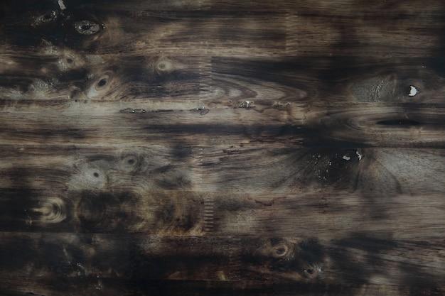 Fundo de madeira escuro antigo Foto Premium