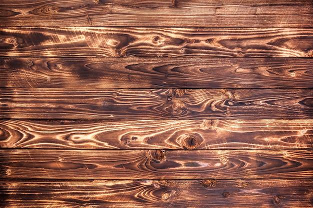 Fundo de madeira escuro, textura de madeira rústica Foto Premium