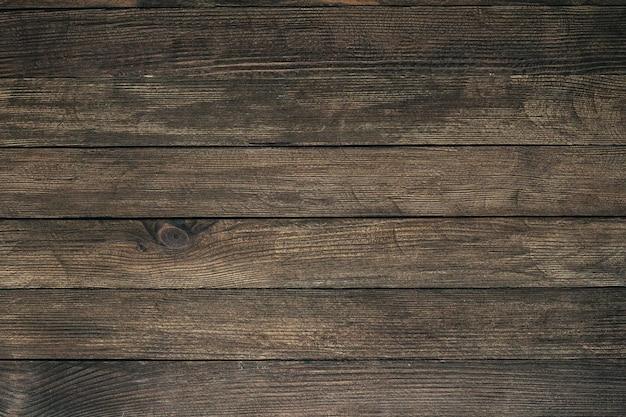 Fundo de madeira marrom vintage Foto Premium