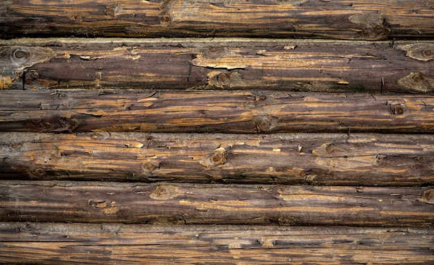 Fundo de madeira parede de madeira velha de uma casa rústica com textura Foto Premium