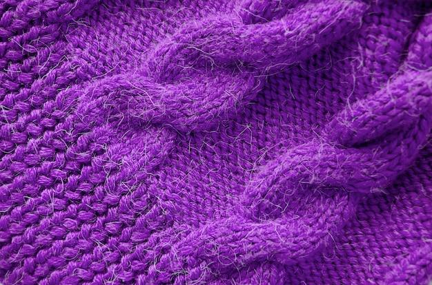 Fundo de malha. textura de malha. padrão de tricô de lã. Foto Premium