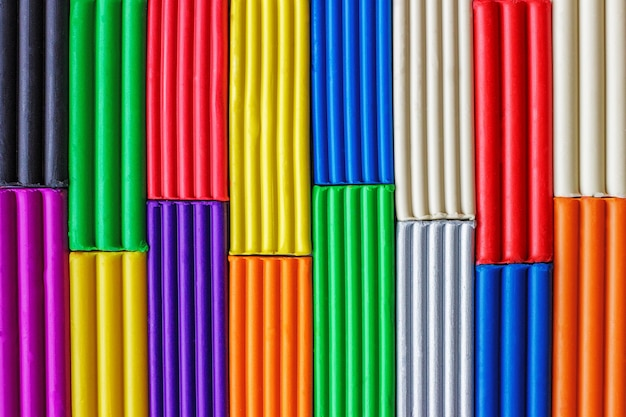 Fundo de massinha multi-coloridas Foto Premium