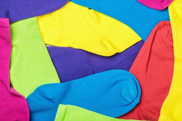 Fundo de meias coloridas Foto Premium