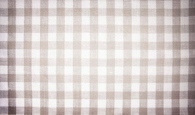 Fundo de menu bege abstrato, tecido xadrez, algodão, toalha de mesa, textura de tecido, restaurante Foto Premium