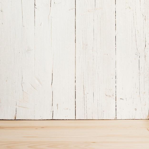 Fundo de mesa com madeira branca Foto gratuita