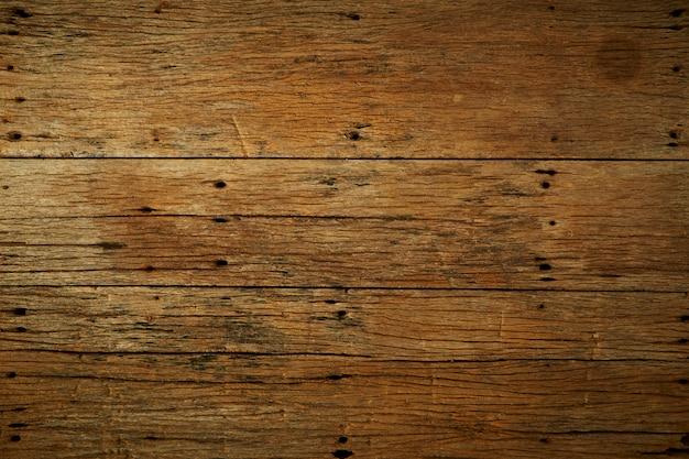 Fundo de mesa de madeira marrom escuro velho Foto Premium