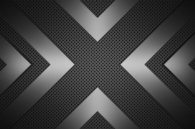 Fundo de metal. renderização em 3d. Foto Premium