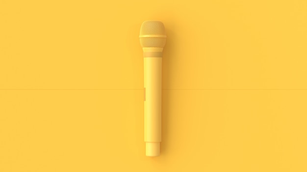 Fundo de música microfone amarelo. Foto Premium