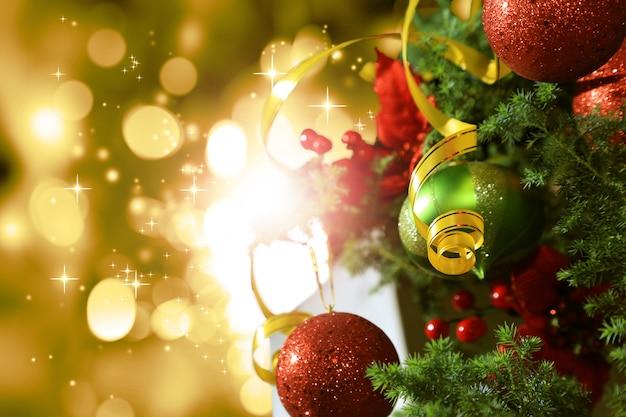 Fundo de natal com brilho Foto Premium