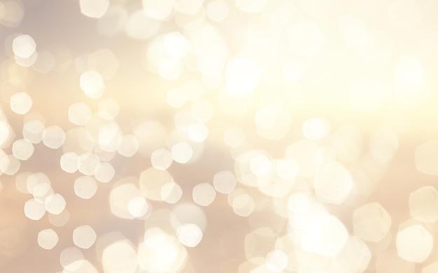 Fundo de natal com design de luzes bokeh douradas Foto gratuita