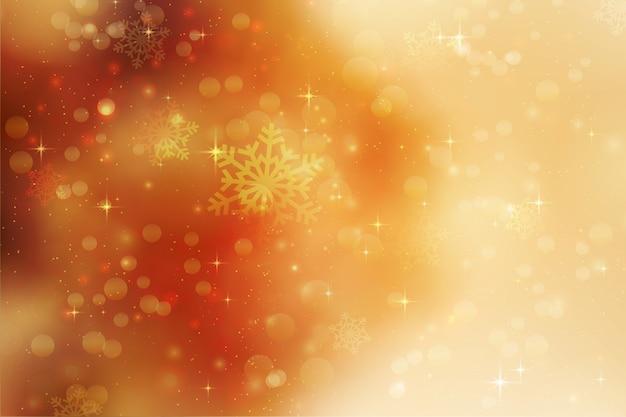 Fundo de natal com flocos de neve e estrelas Foto gratuita