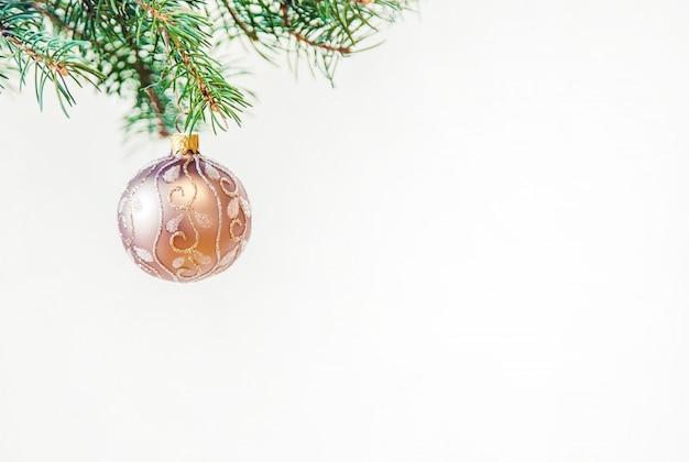 Fundo de natal. feliz ano novo. foco seletivo Foto Premium