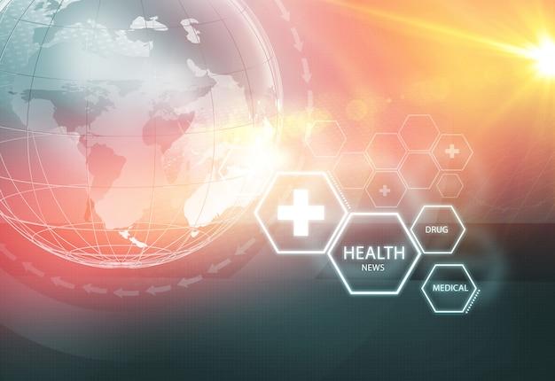 Fundo de notícias de saúde global Foto Premium