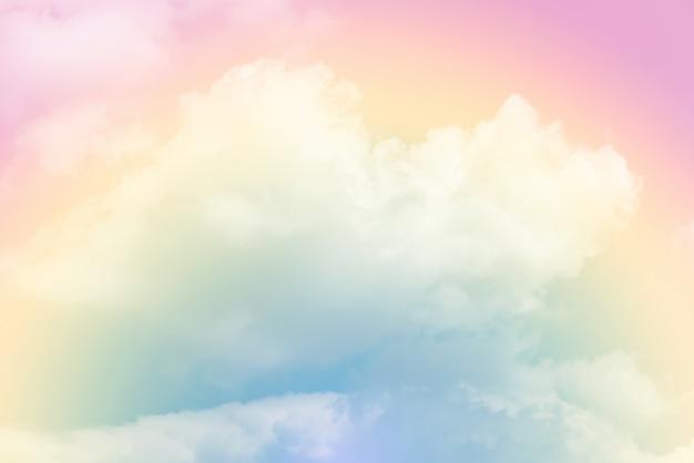 Fundo de nuvem com uma cor pastel Foto Premium
