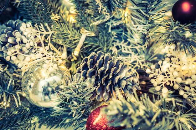 Fundo de ornamento de decoração de natal Foto gratuita