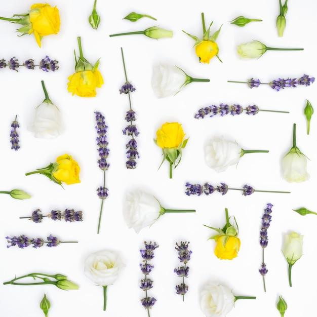 Fundo de padrão de flores Foto gratuita