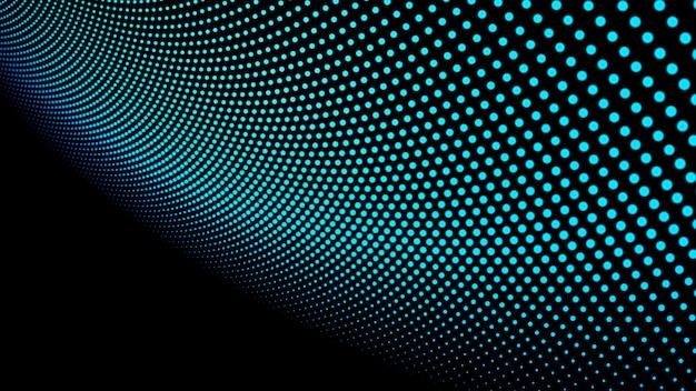 Fundo de paisagem abstrata. ponto verde do ciberespaço. rede de alta tecnologia. ilustração 3d Foto Premium