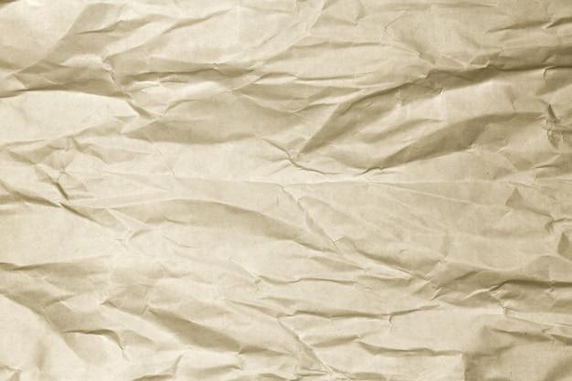 Fundo de papel amassado marrom Foto Premium
