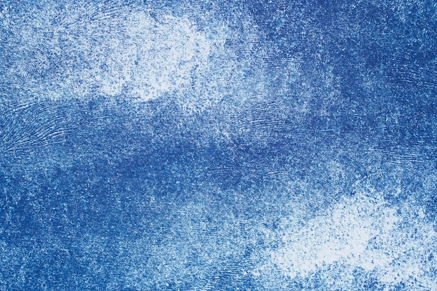 Fundo de papel azul. parede gasto do grunge, fundo de estuque. Foto Premium