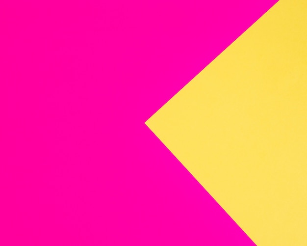 Fundo de papel cartão colorido fúcsia e amarelo Foto Premium