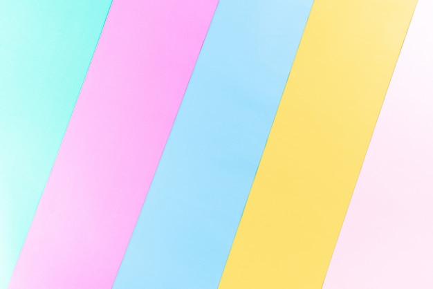 Fundo de papel colorido brilhante com espaço da cópia para o conceito do verão. postura plana. Foto Premium