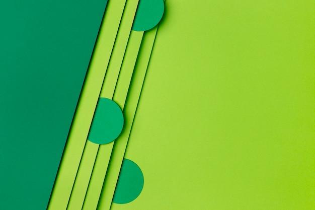 Fundo de papel verde escuro e claro Foto Premium